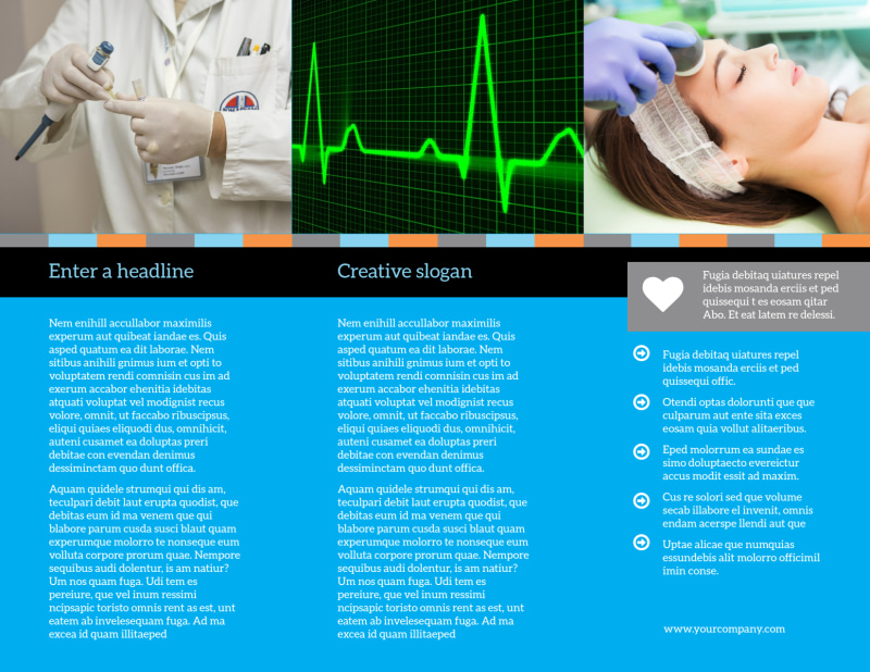 Medical Device Brochure Template Preview 3