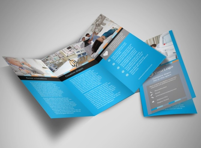 medical tri fold brochure templates for free - medical device tri fold brochure template