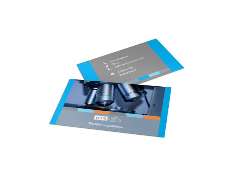 Medical Device Business Card Template
