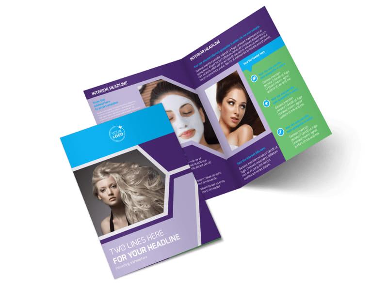 Beauty Spa Bi-Fold Brochure Template 2
