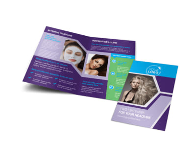 Beauty Spa Bi-Fold Brochure Template preview