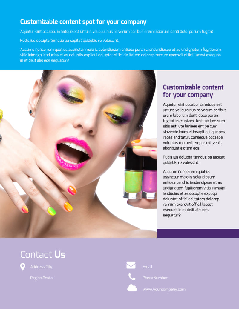 General Beauty 1 Flyer Template Preview 3