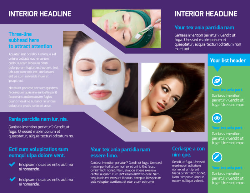 General Beauty 1 Brochure Template Preview 3