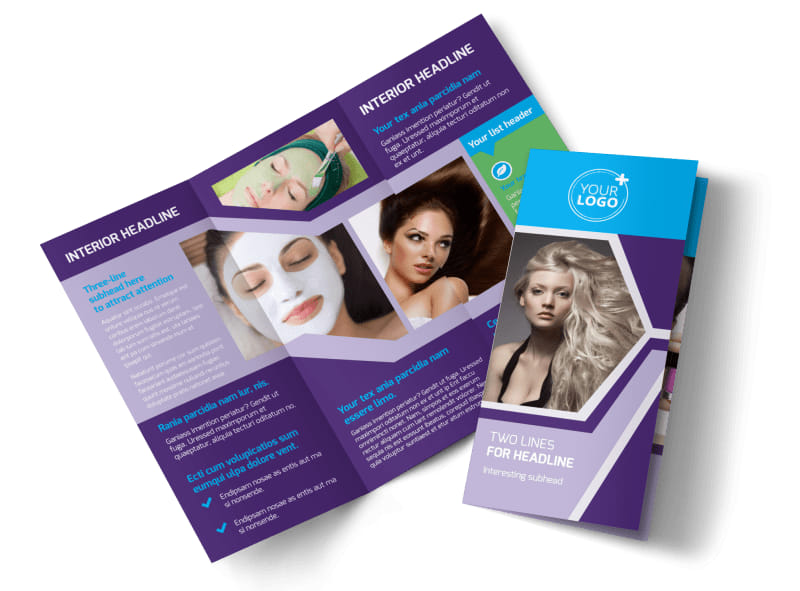 General Beauty 1 Brochure Template Preview 4