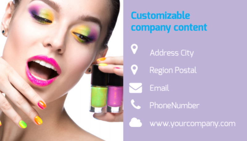 General Beauty 1 Business Card Template Preview 3