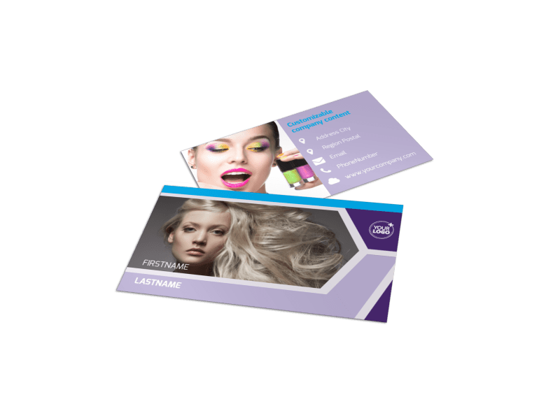 General Beauty 1 Business Card Template Preview 1