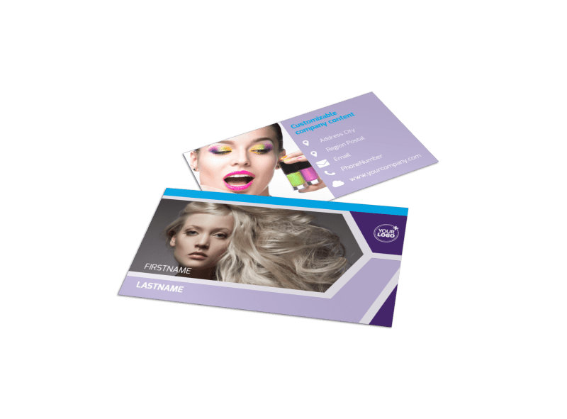 General Beauty 1 Business Card Template Preview 4
