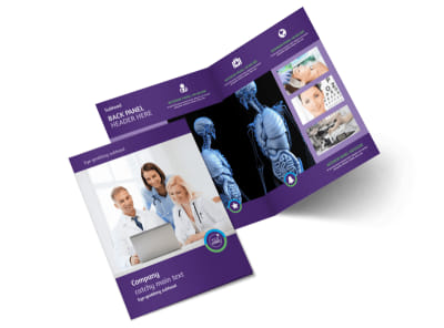 Medical Technology Bi-Fold Brochure Template 2