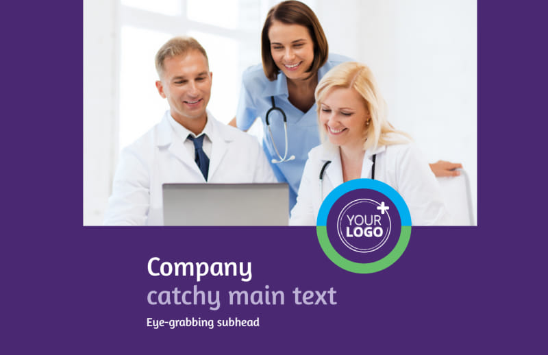 Medical Technology Postcard Template Preview 2
