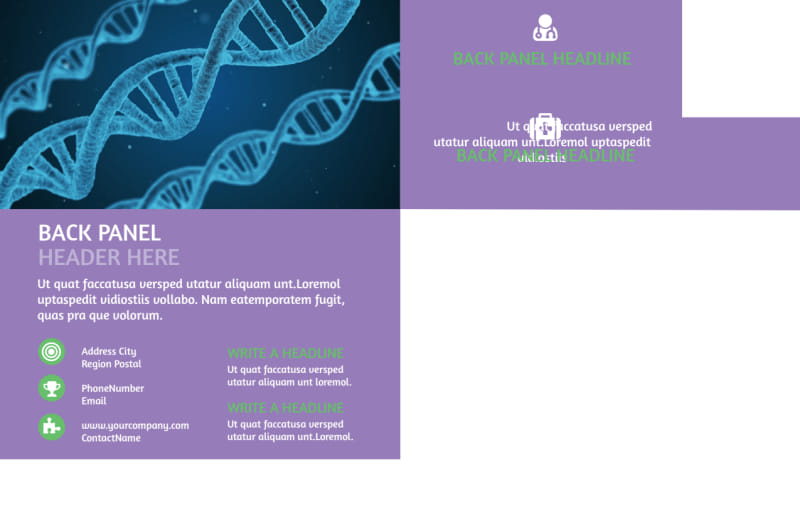 Medical Technology Postcard Template Preview 3