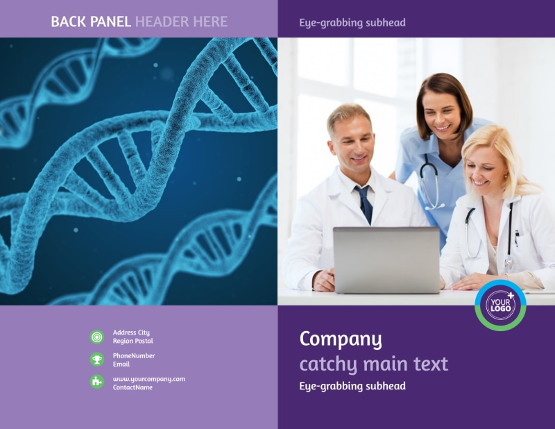 Medical Technology Brochure Template Preview 2