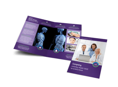 Medical Technology Bi-Fold Brochure Template