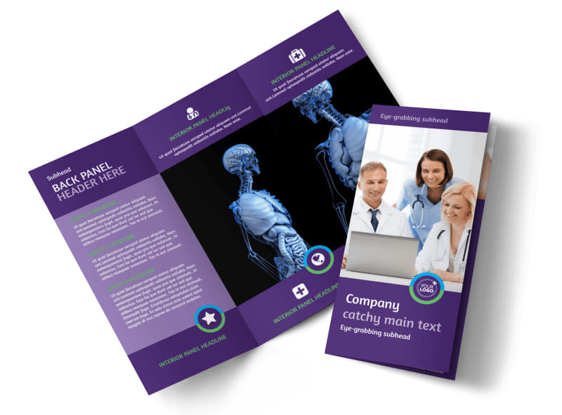 Medical Technology Tri Fold Brochure Template
