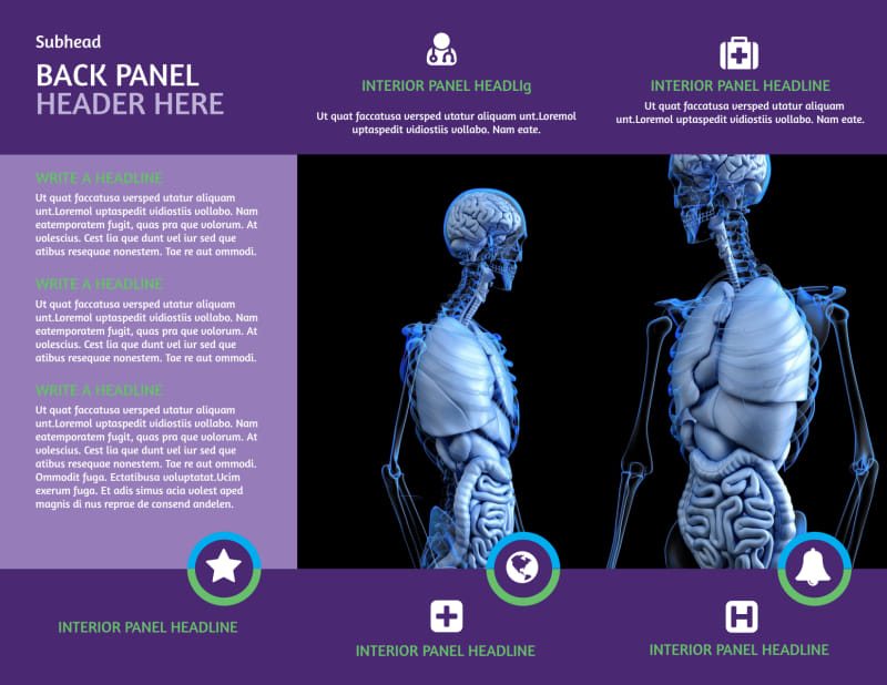 Medical Technology Brochure Template Preview 3