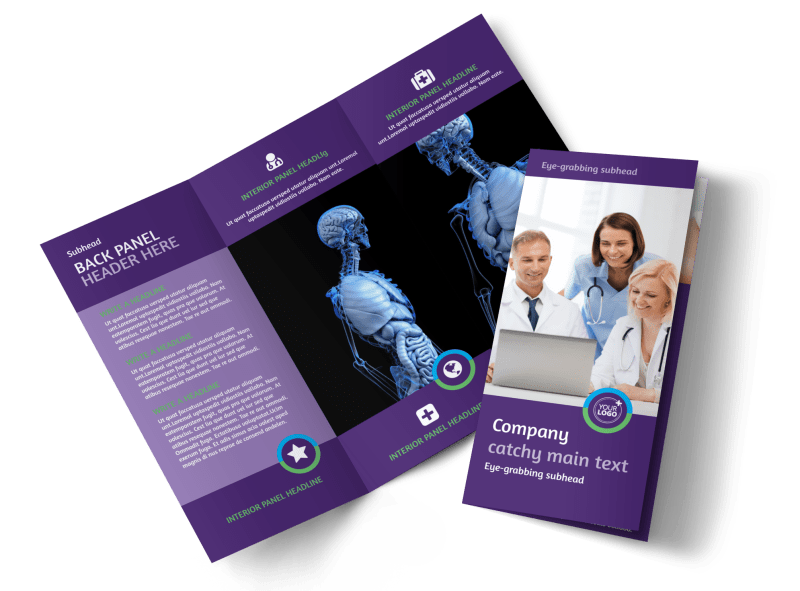 Medical Technology Brochure Template Preview 1