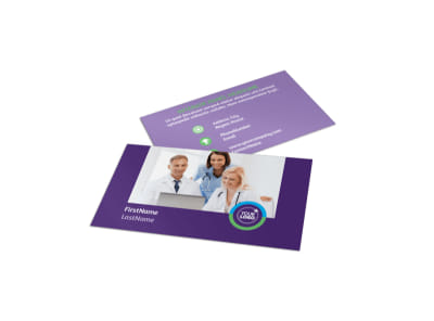 Medical Technology Business Card Template preview