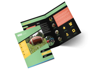 Football Sports Camp Bi-Fold Brochure Template 2