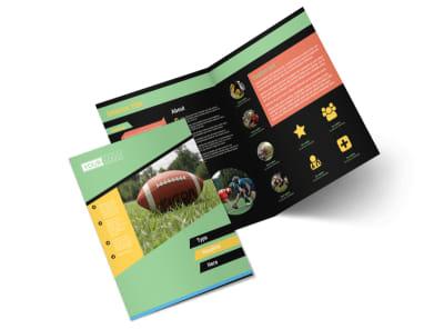 Football Sports Camp Bi-Fold Brochure Template 2 preview