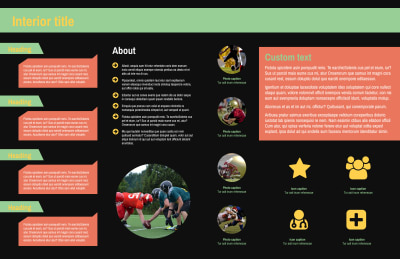 Football Camp Brochure Template Preview 2
