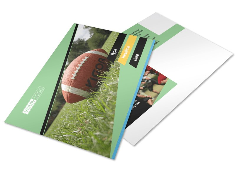 Football Sports Camp Postcard Template 2
