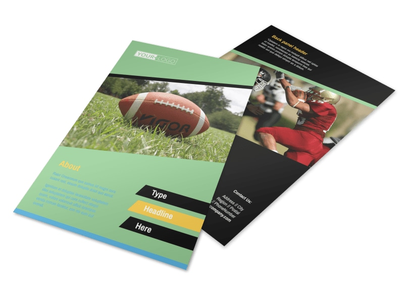 Football Sports Camp Flyer Template 3