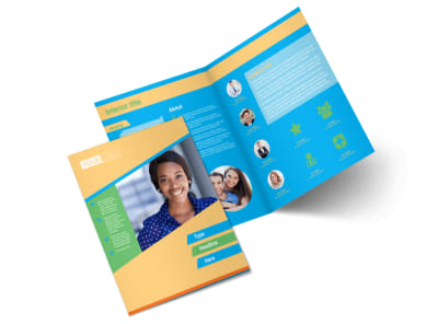 Self Improvement Conference Bi-Fold Brochure Template 2