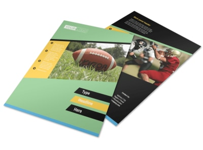 Football Sports Camp Flyer Template preview