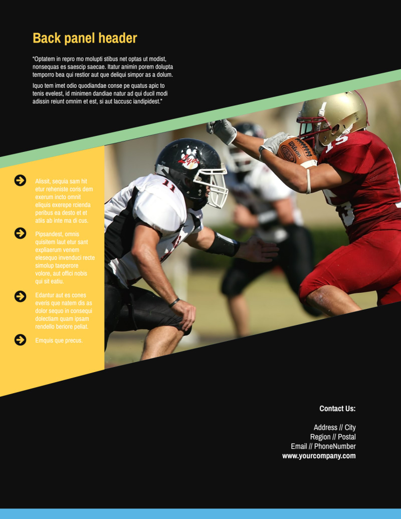 Football Camp Flyer Template Preview 3