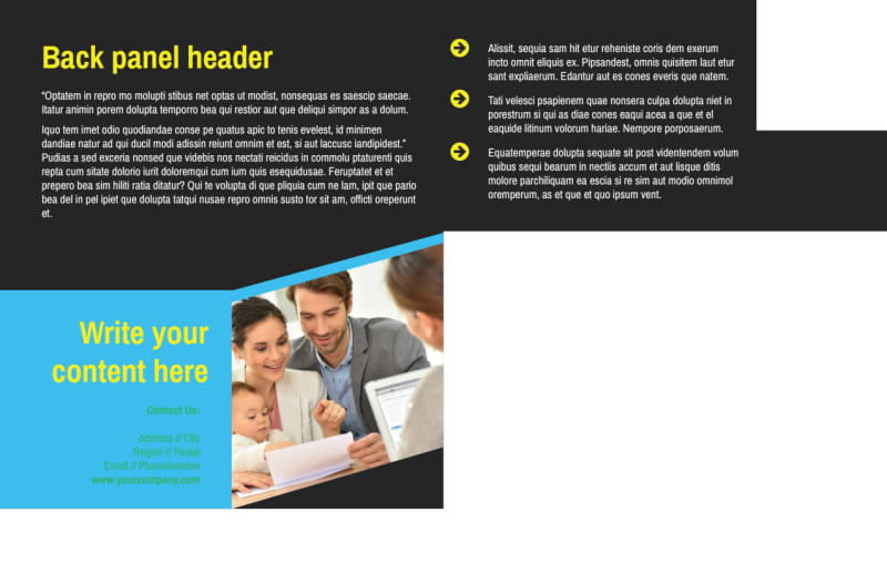 Home Security Service Postcard Template Preview 3