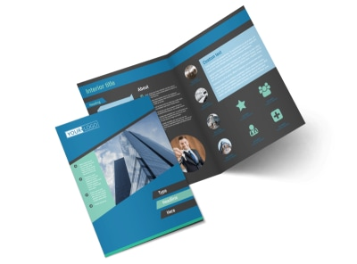 Commercial Real Estate Agents Bi-Fold Brochure Template 2
