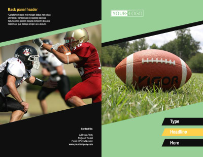 Football Camp Brochure Template Preview 1
