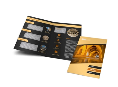 Creative Architecture & Design Bi-Fold Brochure Template preview