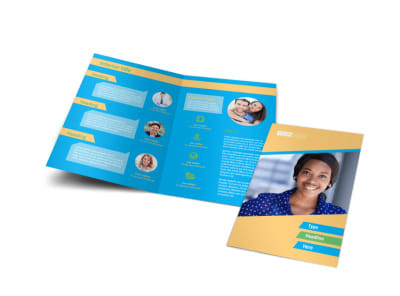 Self Improvement Conference Bi-Fold Brochure Template