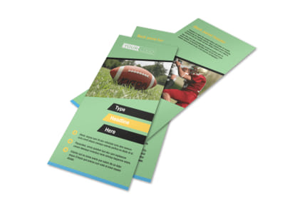 Football Sports Camp Flyer Template 2