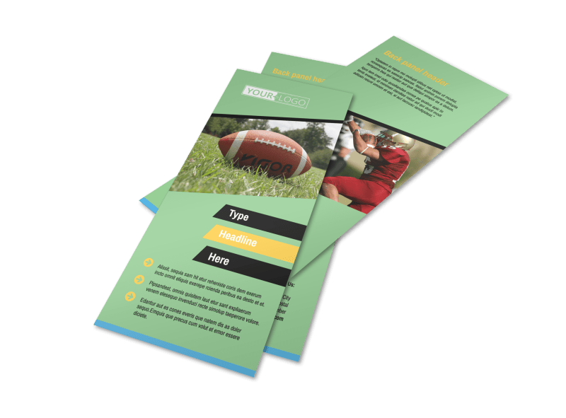 Football Camp Flyer Template Preview 1