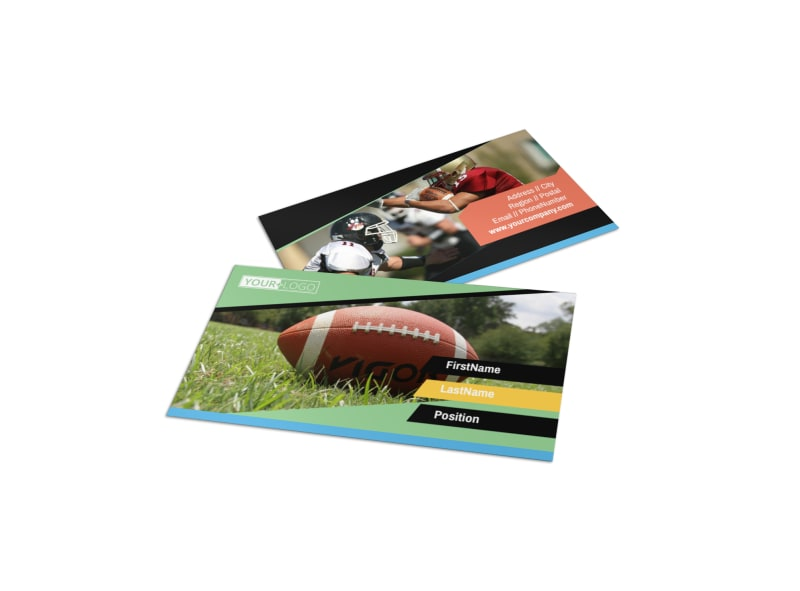 Football Camp Business Card Template Preview 4