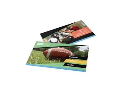 Football Sports Camp Business Card Template preview