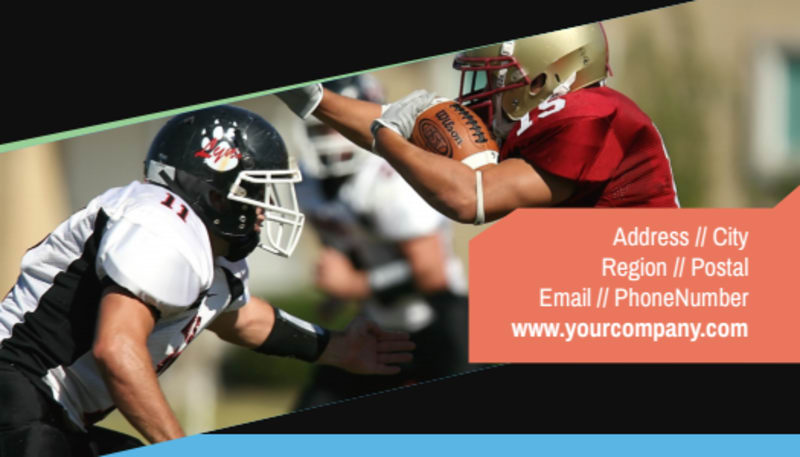 Football Camp Business Card Template Preview 3