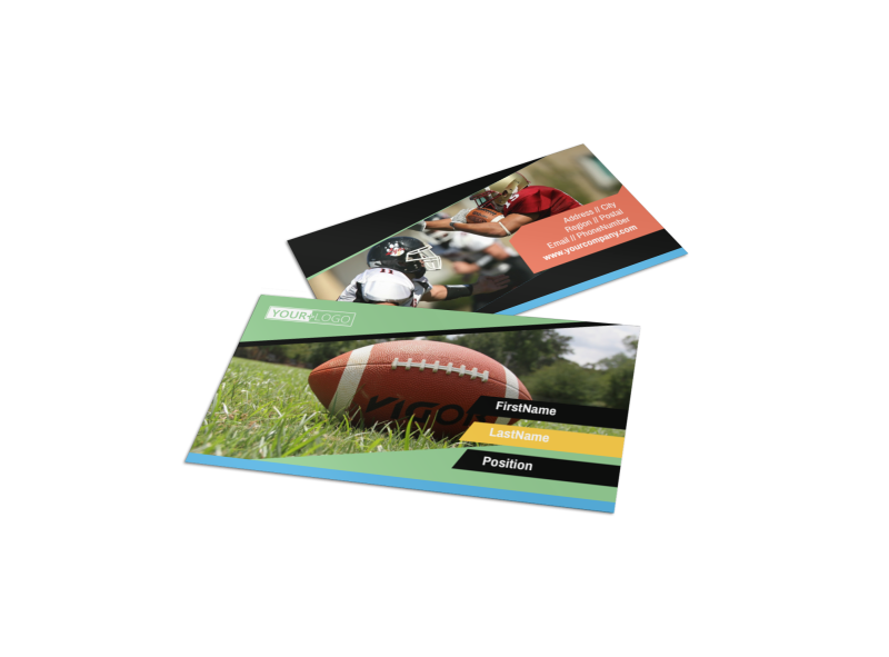 Football Camp Business Card Template Preview 1