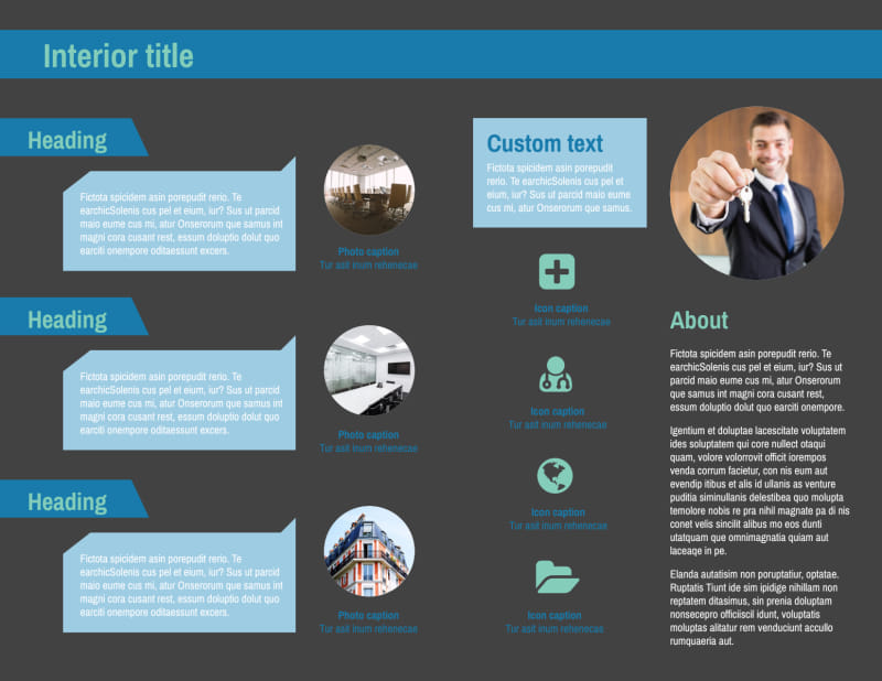 Commercial Real Estate Agents Brochure Template Preview 3