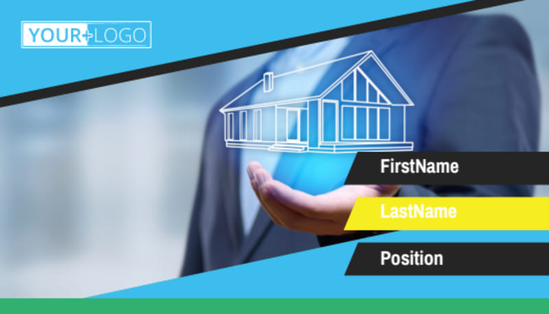 Home Security Service Business Card Template Preview 2