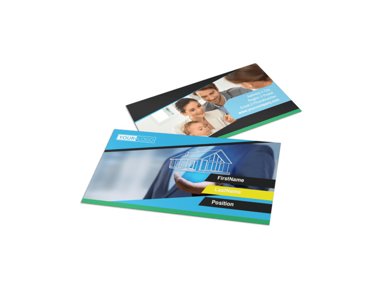 Home Security Service Business Card Template Preview 1
