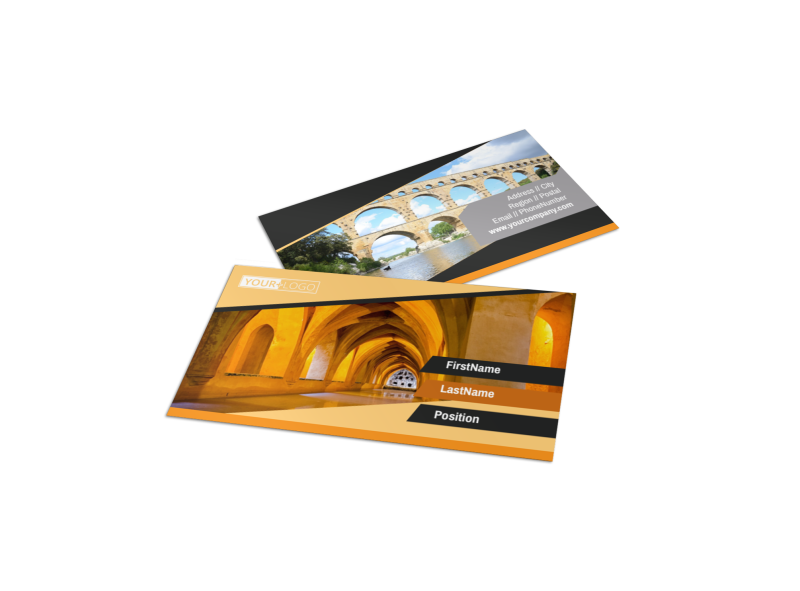 Creative Architecture & Design Business Card Template Preview 1