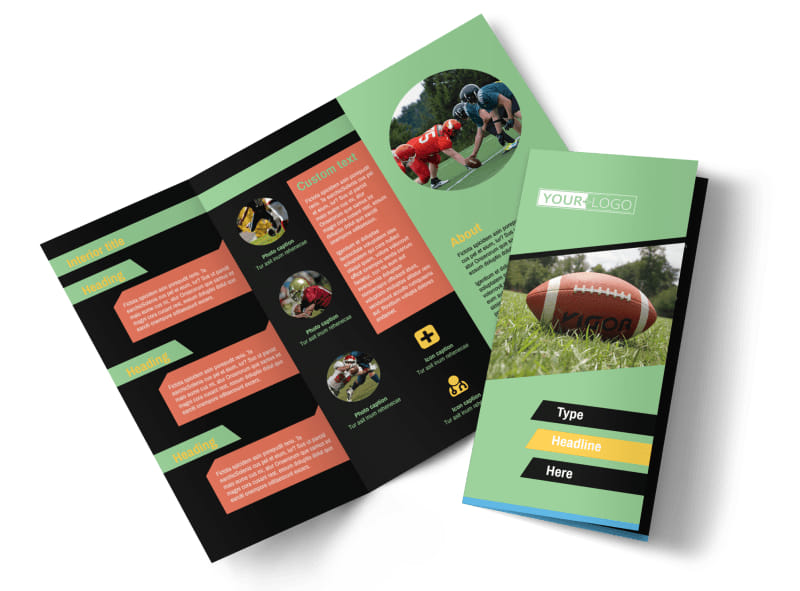 Football Sports Camp Brochure Template