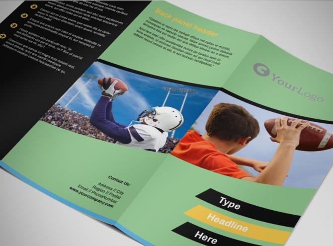 football camp sports training brochure templates
