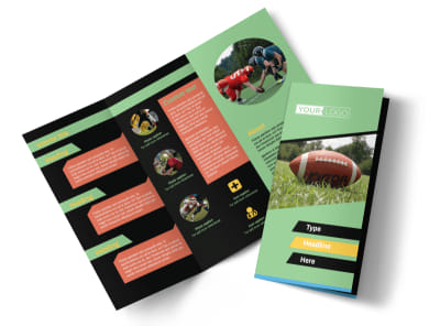 Football Sports Camp Brochure Template preview