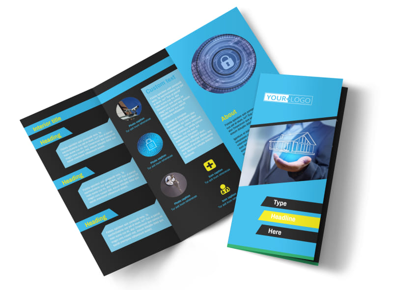 Home security service brochure template mycreativeshop for Security company brochure template