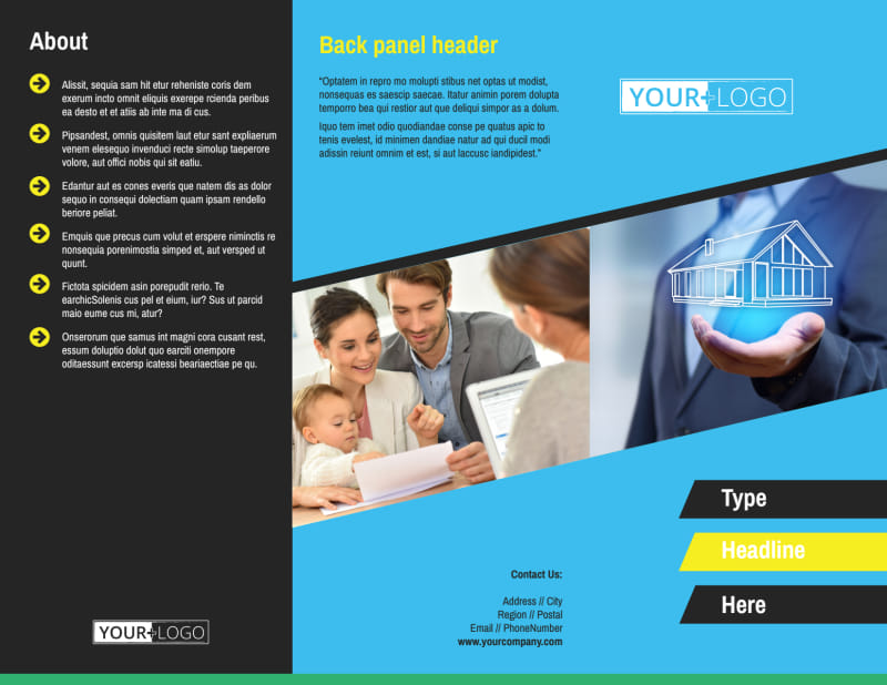 Home Security Service Brochure Template Preview 2