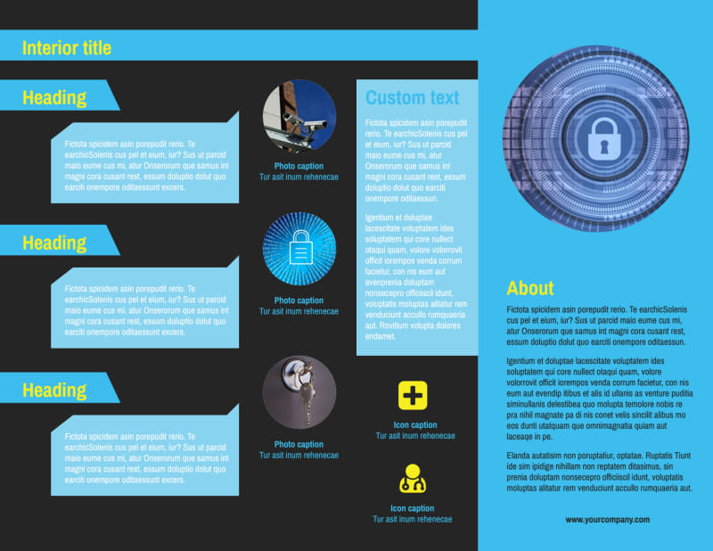 Home Security Service Brochure Template Preview 3