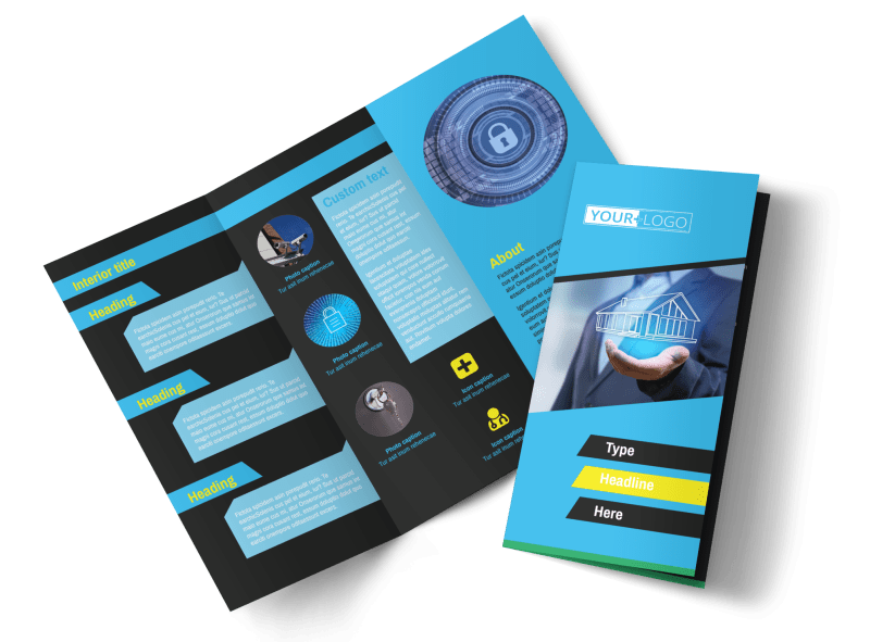 Home Security Service Brochure Template Preview 1